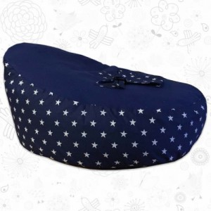 Navy Stars Baby Bean Bag