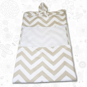 Beige Chevron Toy Sack