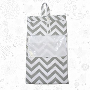 Grey Chevron Toy Sack