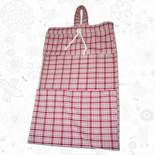 Red Checkered Toy Sack