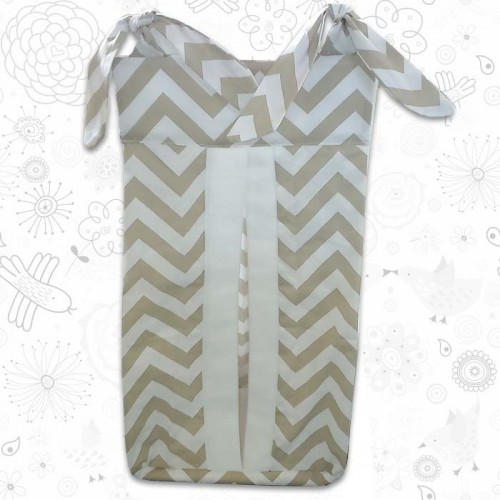 Beige Chevron Nappy Stacker