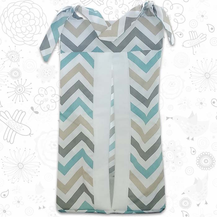 Coloured Chevron Nappy Stacker