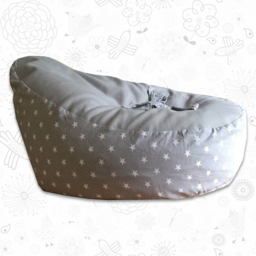 Grey Stars Baby Bean Bag