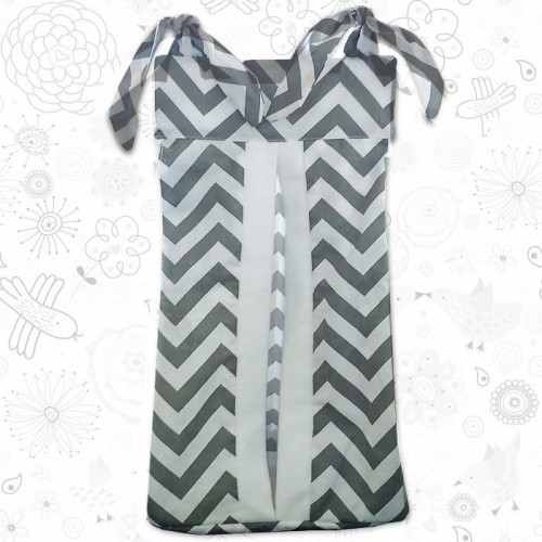 Grey Chevron Nappy Stacker