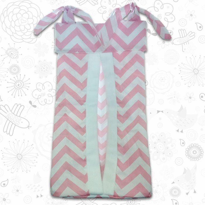 Pink Chevron Nappy Stacker