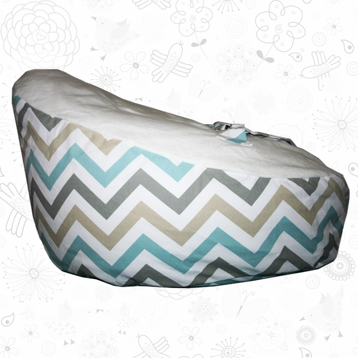 Coloured chevron baby bean bag