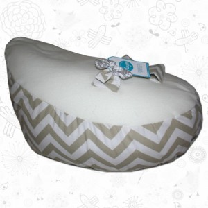 Beige Chevron baby bean bag