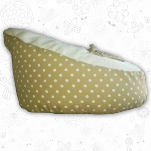 Beige Polka Dot baby bean bag