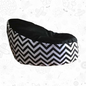 Black White Chevron Toddler Bean Bag