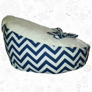 Blue ZigZag baby bean bag