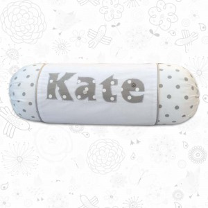 Polka dot baby cot pillow
