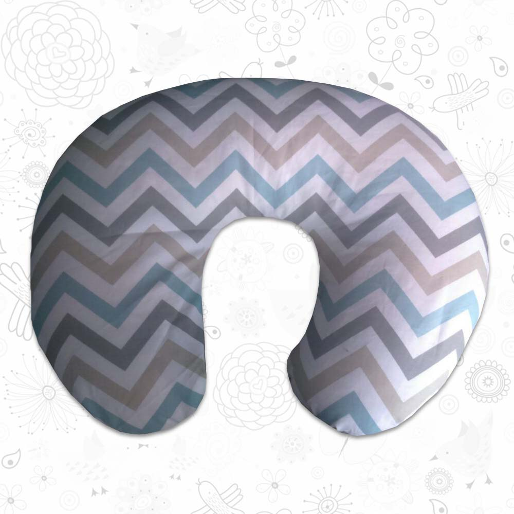 Coloured Chevron feeding pillow