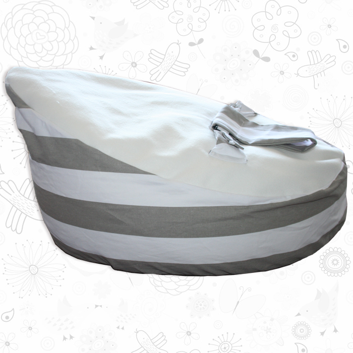 Grey Striped baby bean bag