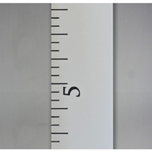 White washed growth chart rulers