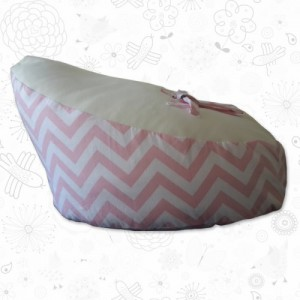 Pink Chevron baby bean bag