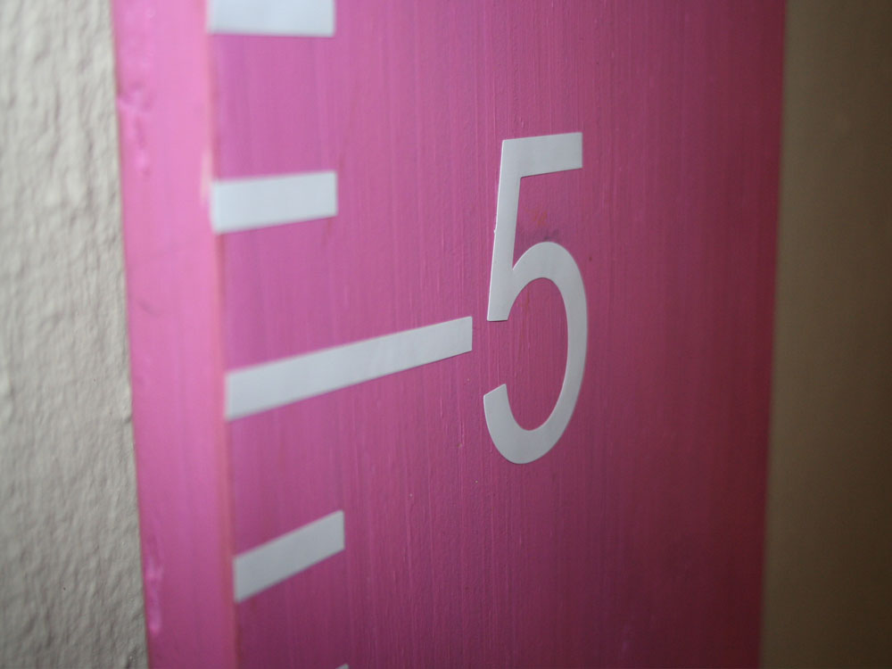 Pink Growth Chart Ruler