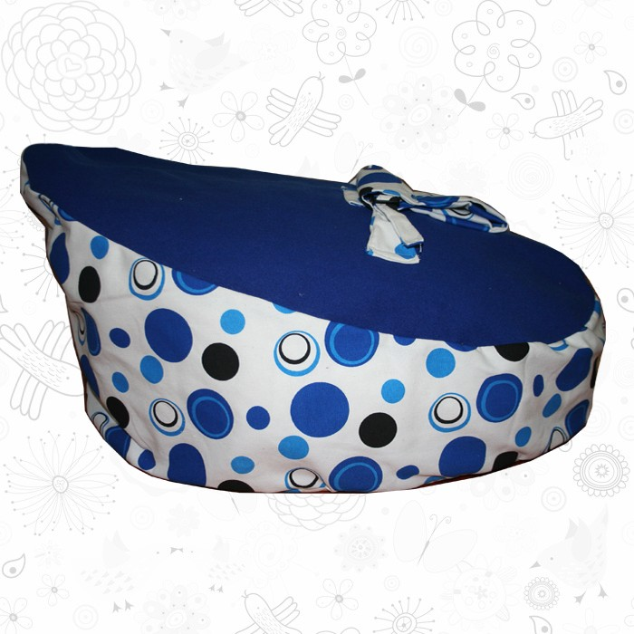 Blue Polka Dot baby bean bag