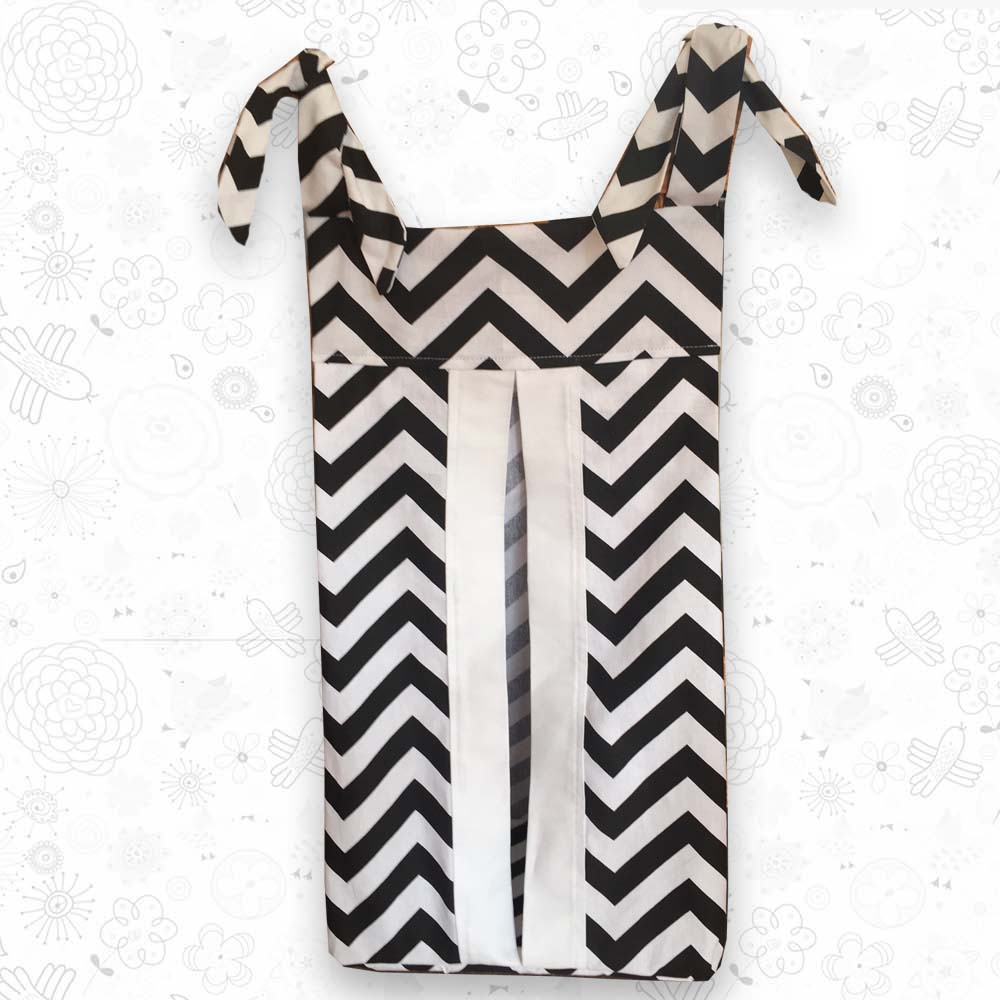 Black Chevron Nappy Holder
