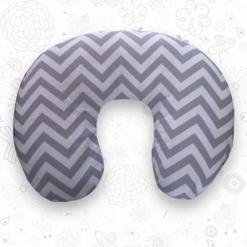 Grey Chevron feeding pillow