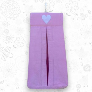 Pink Heart nappy holder