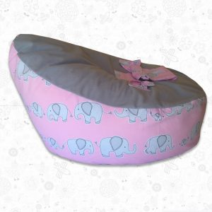 Pink Ellie baby bean bag