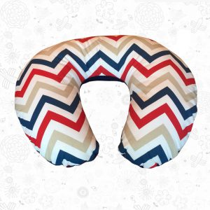 Red Chevron feeding pillow