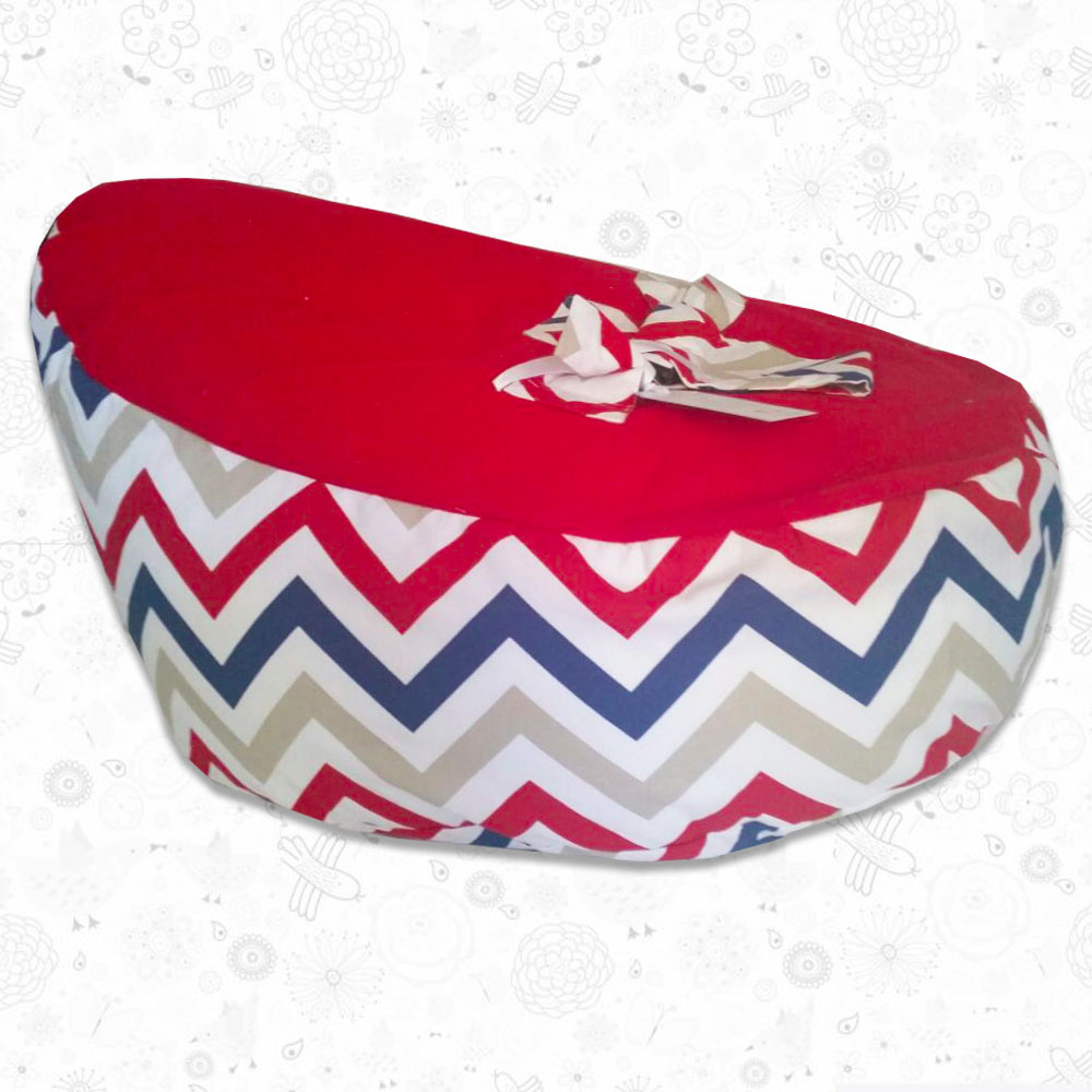 Red Chevron Toddler Bean Bag