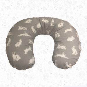 Grey Bunny Feeding Pillow